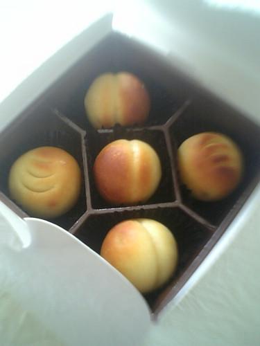 桃とオレンジピールの桃山