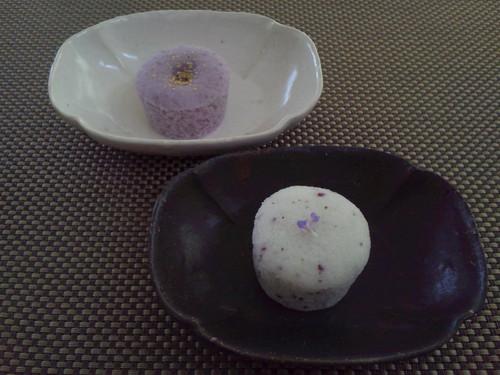 紫蘇&ブルーベリーのかるかん饅頭